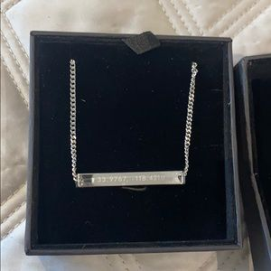 MVMT barcode necklace NEW in box